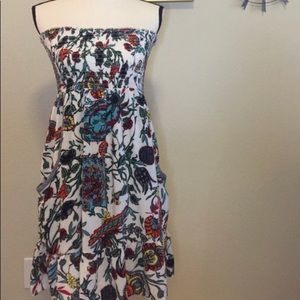 Xhilaration strapless floral dress with pockets